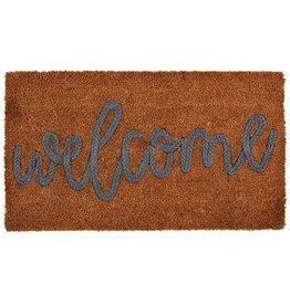 Mud Pie Welcome Doormat Woven Coir Mat 29x18 Inch