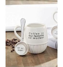 Mud Pie Coffee Mugs w Scoop Set My Favorite Co-Worker | Got Any Scoop