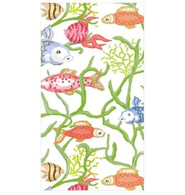 Caspari Paper Guest Towel Napkins 15pk Tropical Reef