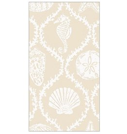 Caspari Paper Guest Towel Napkins 15pk Seychelles In Sand