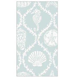 Caspari Paper Guest Towel Napkins 15pk Seychelles In Aqua