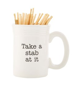 Mud Pie Ceramic Toothpick Holder | Take A Stab At It