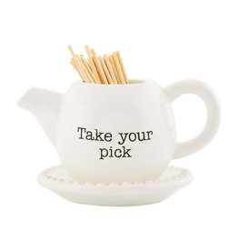 Mud Pie Ceramic Toothpick Holder | Take Your Pick