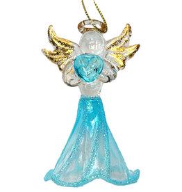 Kurt Adler Crystal Birthstone Angel Ornaments MARCH