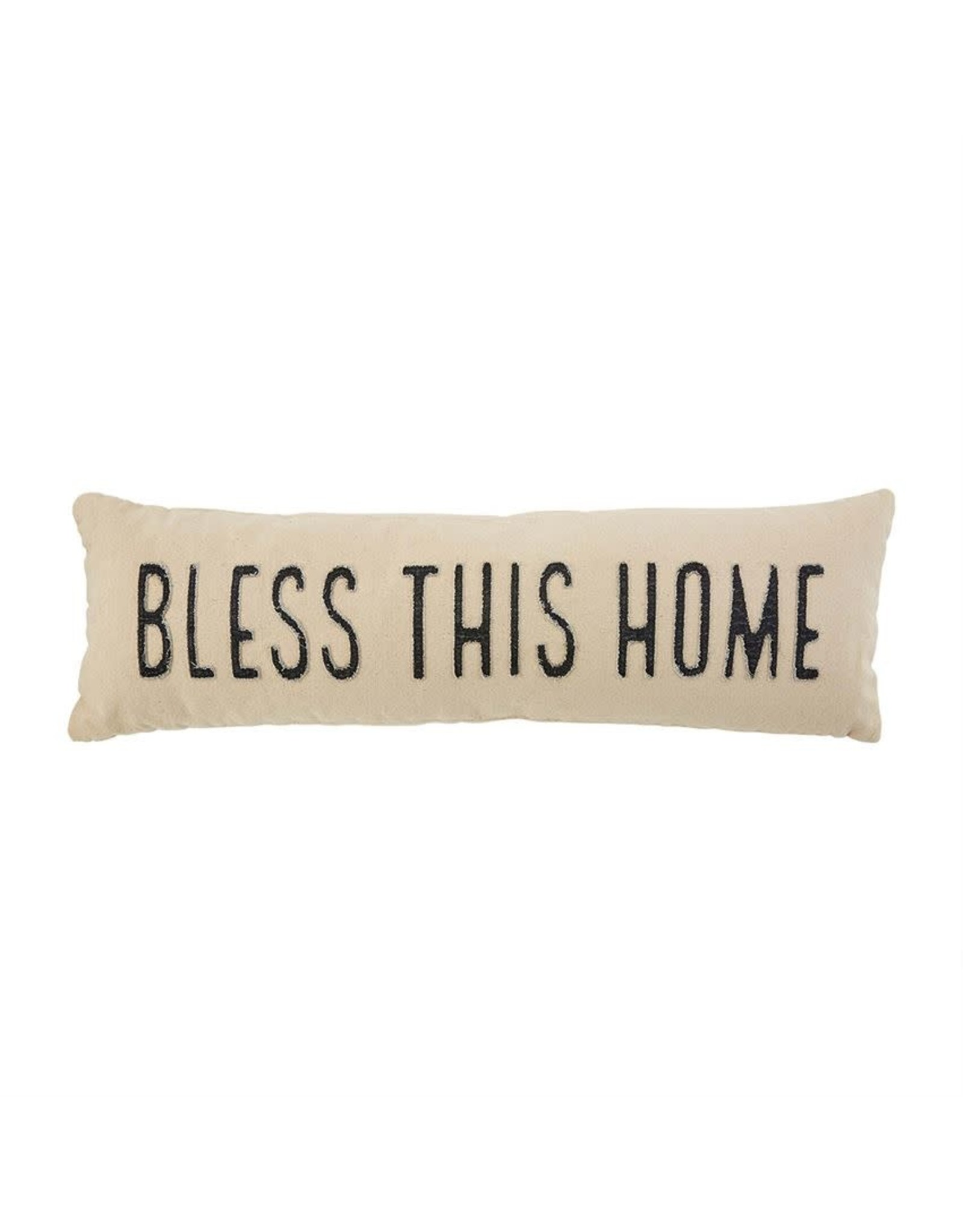Mud Pie Bless This Home Long Pillow 11x35 inch