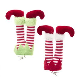 Kurt Adler Elf Legs Clip Ornaments 6 Inch 2 Assorted
