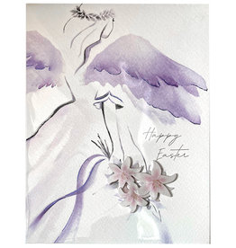 PAPYRUS® Easter Cards Angel With Flowers Card