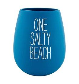 Mud Pie Silicone Stemless Wine Glass - One Salty Beach