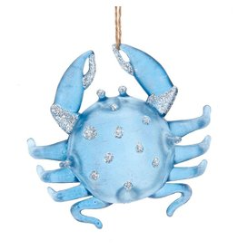 Kurt Adler Glittered Crab Ornament 4 Inches