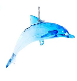 Kurt Adler Acrylic Dolphin Ornament Arched Pose
