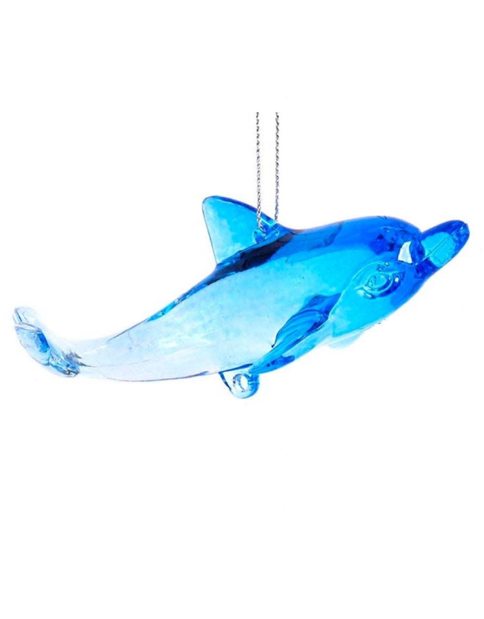 Kurt Adler Acrylic Dolphin Ornament Streamlined Pose