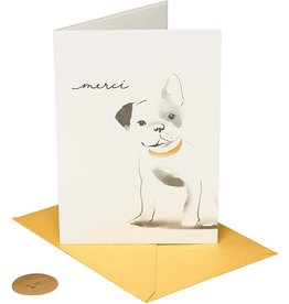 PAPYRUS® Thank You Card Frenchie Merci