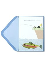 PAPYRUS® Birthday Card Man Fishing