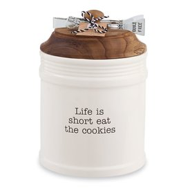 Mud Pie Cookie Jar With Tongs Set Life Is Short Eat The Cookies