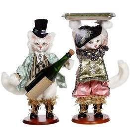 Mark Roberts Fairies Cat Wine Bottle Holder & Cat Holding Tray Set