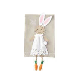 Mud Pie Easter Bunny Dangle Legs Towel - Lets Get Hoppy