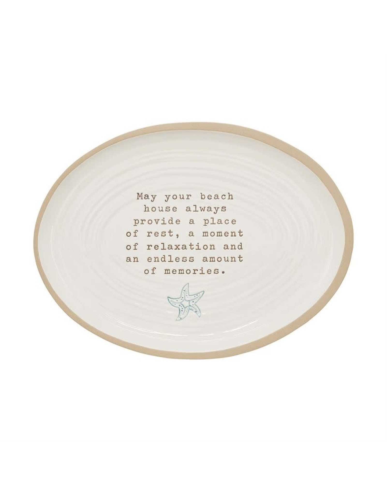 Mud Pie Beach House Platter With Sentiment