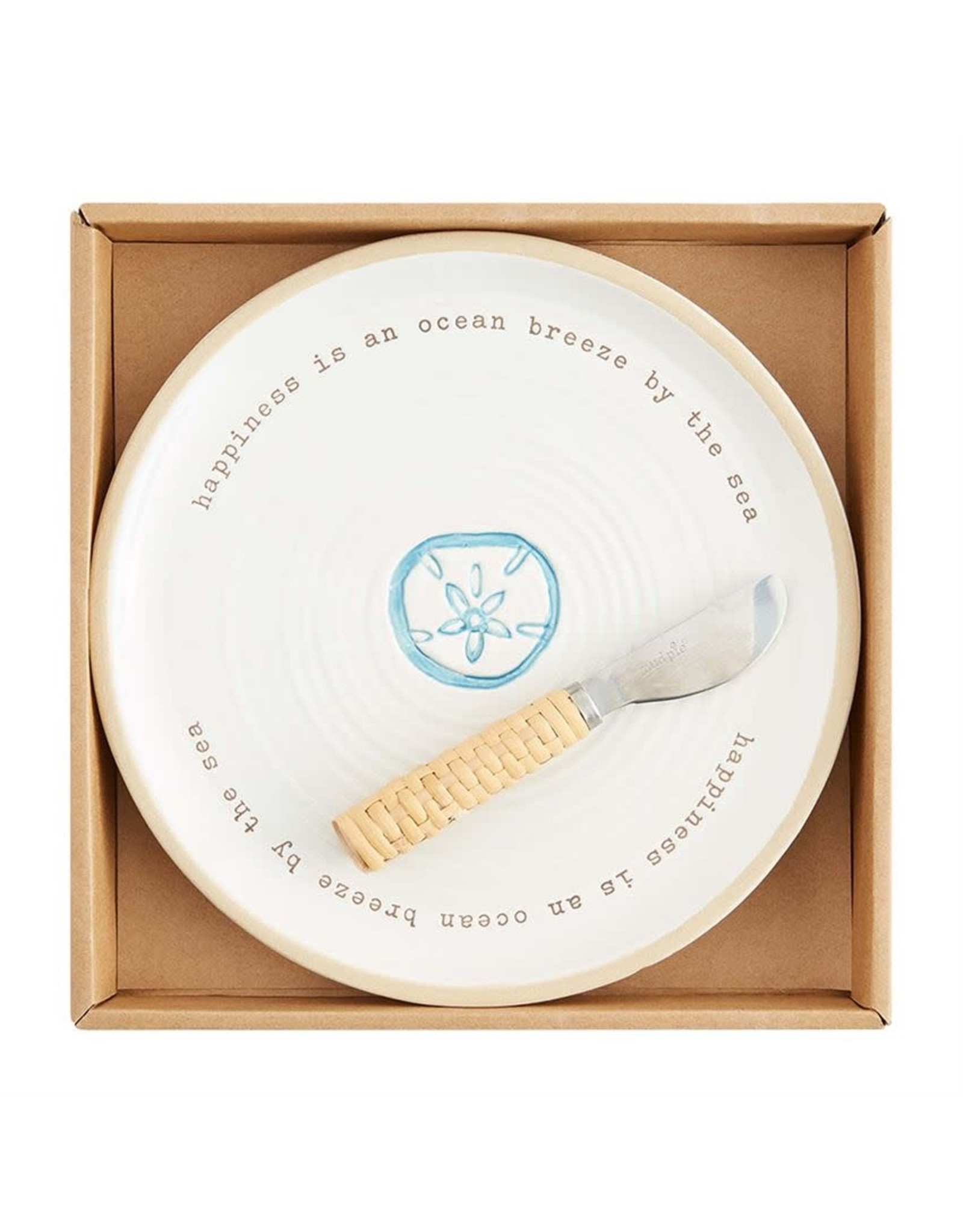 Mud Pie Beach House Cheese Set Happiness Is An Ocean Breeze By The Sea