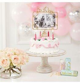 Mud Pie Birthday Cake Topper Birthday Frame Photo Holder