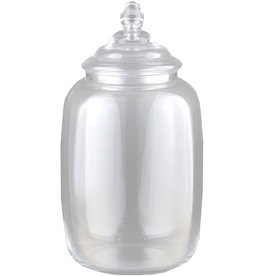 Digs Apothecary Glass Jar W Lid 10Dx17.5H Inch Clear