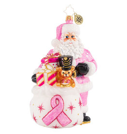 Christopher Radko Poised In Pink Breast Cancer Research Ornament
