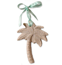 Digs Palm Tree Sand Christmas Ornament