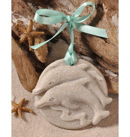 Digs Jumping Dolphins Sand Christmas Ornament