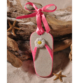 Digs Flip-Flop Sand Christmas Ornament - Pink