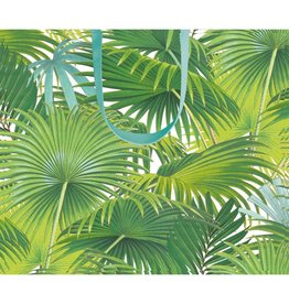 Caspari Gift Bag Palm Fronds Large 11.75x4.75x10