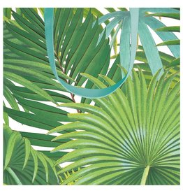 Caspari Gift Bag Palm Fronds Small 5.75W x 2.5D x 5.75H