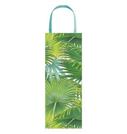 Caspari Wine And Bottle Gift Bag Palm Fronds