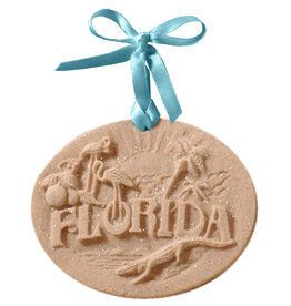 Digs Florida  Sand Christmas Ornament