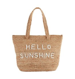 Mud Pie Jute Cooler Tote - Hello Sunshine