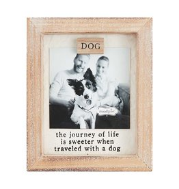 Mud Pie Dog Magnet Frame w The Journey Of Life Is Sweeter When