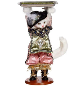 Mark Roberts Fairies Cat Holding Serving Tray Server