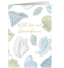 Caspari Sympathy Cards Shells With Foil Sympathy Card
