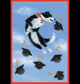 Caspari Graduation Cards Dog With Grad Caps Graduation Card