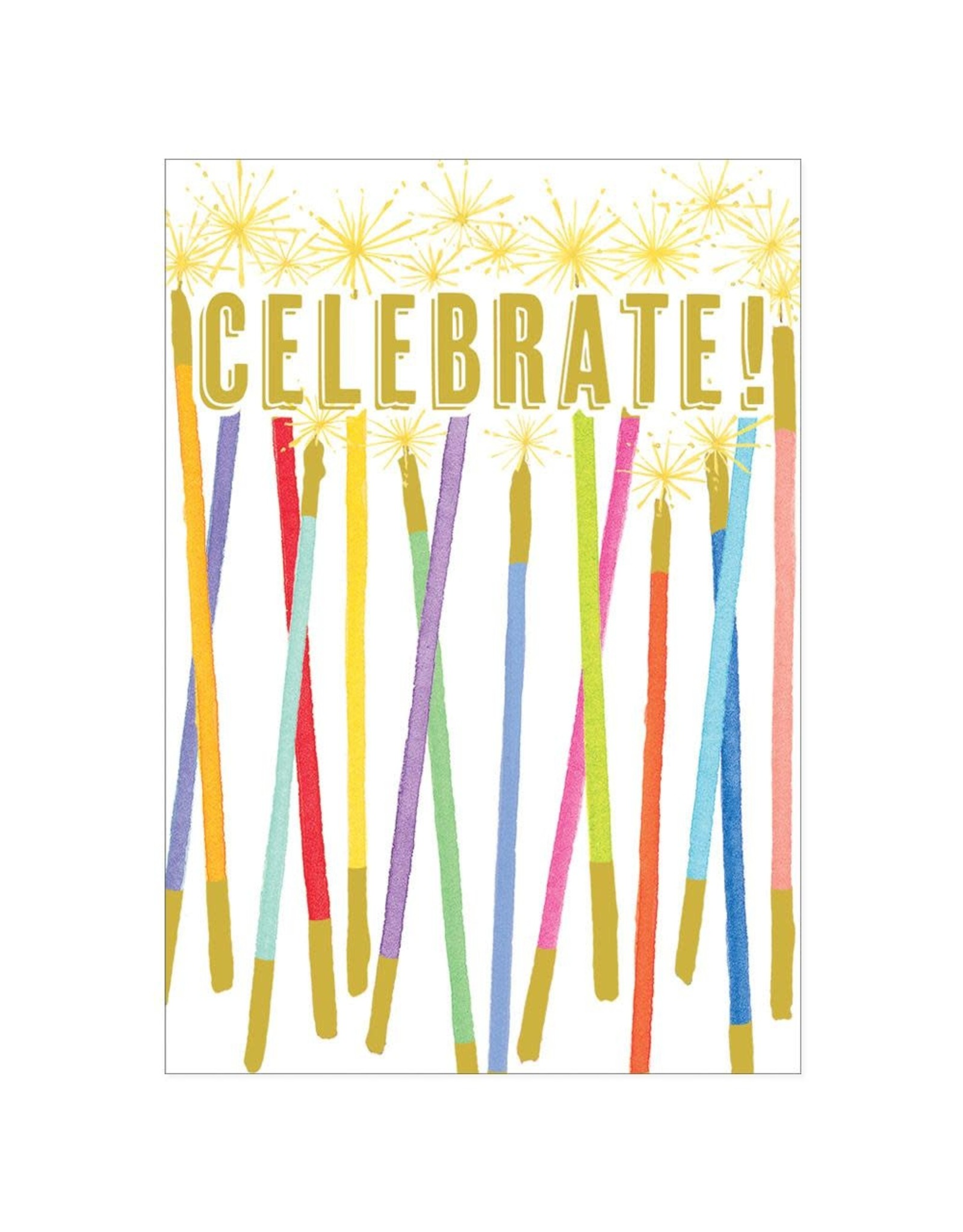 Caspari Blank Cards Celebration Candles Blank Card