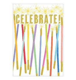 Caspari Blank Cards Celebration Candles Blank Card