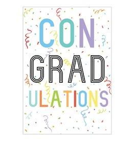 Caspari Graduation Cards Con-GRAD-ulations Graduation Card