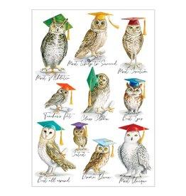 Caspari Graduation Cards Owls Graduation Card