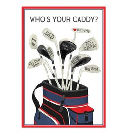 Caspari Fathers Day Cards Caddy Father's Day Card