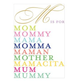 Caspari Mothers Day Cards M Is For... Mother's Day Card