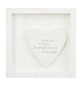 Mud Pie Ceramic Plaque Shadow-Box So Many Reasons To Be Happy