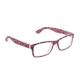 Reading Glasses Dappled Dot Blue Light Red +1.50