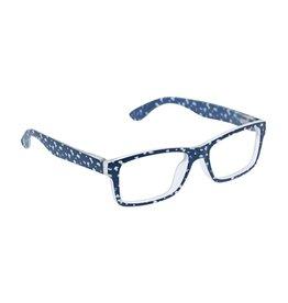 Reading Glasses Dappled Dot Blue Light Navy +1.50