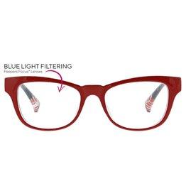 Reading Glasses Joni Blue Light Red +1.25
