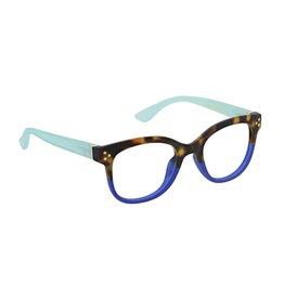 Reading Glasses Walking On Sunshine Blue Light Tortoise-Aqua +1.25