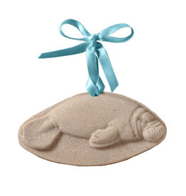 Digs Manatee Sea Cow Sand Christmas Ornament