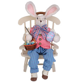 Karen Didion Artist Bunny W Chair Easter Spring Collectible